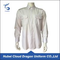 Wholesale Cotton Twill White Long Sleeve Security Guard Shirts Traditional Style Printed Logo from china suppliers
