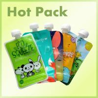 Eco Friendly Disposable Baby Food Stand Up Pouch With Spout Food Grade Leak Proof