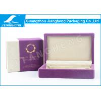 Custom Cosmetic Packaging Boxes , Velvet Fabric Eco Purple Packaging Boxes