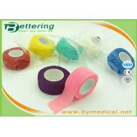 Non Woven Elastic Cohesive Bandage For Finger , Self Adherent Bandage Wrap