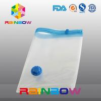 Wholesale Transparent Vacuum Seal Bag for Food / Apparel / Quilt Storage With Zipper And Valve from china suppliers