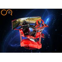 Three Screens VR Car Racing Game Machine 0.6 Kw 220V With Cylinder System