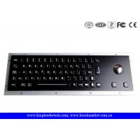 Wholesale Black Industrial Keyboard With Optical Trackball In Full Travel Keys At IP65 Rating from china suppliers