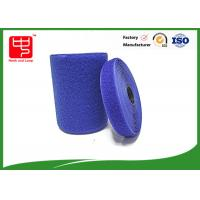 Quality Blue hook and loop tape customized adhesive backed hook and loop tape 100% nylon material for sale