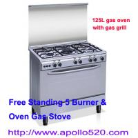 Wholesale Freestanding 5 Burner Gas Cooking Range with Oven from china suppliers