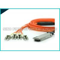 100M QSFP Optical Cable / 40G To 10G Breakout Cable 70 Ambient Humidity