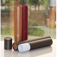 Classical Leather Surface Cardboard Paper Cans Packaging with SGS Certification