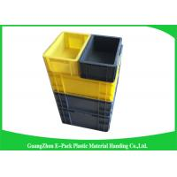 Quality Self Adhesive Label Holders Stackable Plastic Storage Containers , Euro Plastic Storage Boxes for sale