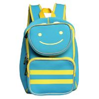 Neoprene Boys Children School Backpack Bag , Blue Zipper Kids Schoolbags
