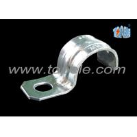 Zinc Plated Steel IMC Conduit Fittings Pipe Clamp One Hole Strap