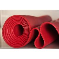 Quality Red Solid Platinum Cured Silicone Sheet Textured Finish For Food Processing Industries for sale
