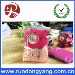 Plastic Pink Packaging Bags With Ziplock Top Underwear Packing