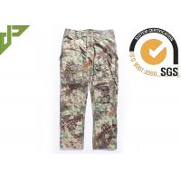 Quality Multicam Camouflage Army Combat Pants , Military Men's Tactical Cargo Pants Slim Fit for sale