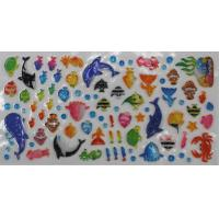 Wholesale Sea World 3D Clear Puffy Animal Stickers , Clear Bubble Stickers from china suppliers