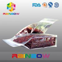 Wholesale Plastic transparent bottom gusset ziplock beans / food packaging bags from china suppliers