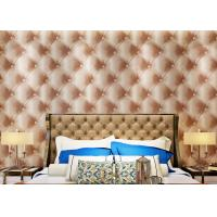 Luxury Grey Home Decoration Wallpaper , 3D Effect Leather Pattern Wallpaper