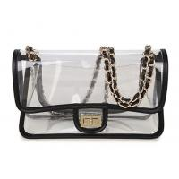 High Transparency PVC Cosmetic Bag Cross - Body Purse Bag With Chain Shoulders