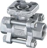 Wholesale 3PC Screwed Ball Valve with Mounted Pad from china suppliers