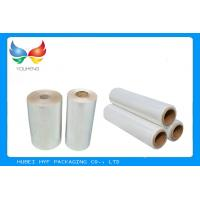 Quality Water Soluble PVC Shrink Film Rolls High Shrinkage Ratio For Full Body Sleeves for sale