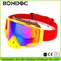Flexible Orange TPU Frame High Quality Fashion Style Clear UV Protective Lens Racing Motorcycle Goggle Motocross