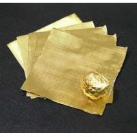 Pure chocolate aluminum foil wrappers , gold foil wrapped chocolates Soft Temper
