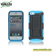Wholesale PC+silicone case for iphone5, Belt clip cover, transformers design from china suppliers