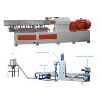 Quality PP Caco3 Double Screw Extruder Granulation Machine Water Ring Cutting System for sale