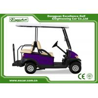 Four Wheel Battery Operated Golf Buggy Mini Type Purple Color
