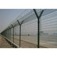 Quality Barbed Welded Wire Mesh Fence Panels , Size Customized Y Post Fence For Industry for sale