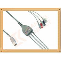 Mennen ECG Patient Cable 10 Pin 3 Leads Grabber AHA Gray Color
