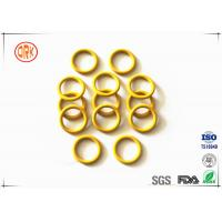 Quality Yellow Waterproof Silicone O Ring High Temperature Resistance For Electronic for sale