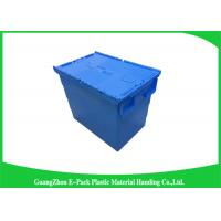 Quality Heavy Duty Dtorage Moving Stackable Plastic Tote Boxes With Hinged Lids for sale