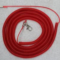 Red spiral cord fishing tool item holder coil lanyard core western style elastic spirals