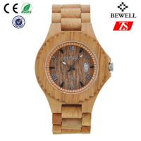 Quality Old Annatto Wooden Wrist Watch With Japan Quartz Movement , ROHS FSC Standard for sale