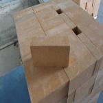 Quality Magnesia Zirconia Kiln Refractory Bricks 76% MgO Insulating Fire Brick Light Yellow for sale