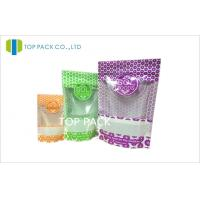 Plastic Resealable Stand Up Food Pouches packaging For Candy