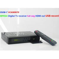 VCAN0870 ISDB-T MPEG4 digital tv receiver full segment HDMI out USB recorder