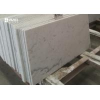 Customized 10mm Carrara White Polished Marble Floor Tiles Heat Resistance
