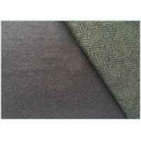 Quality Various Colors Stretch Wool Fabric With Herringbone 650 Gram Per Meter for sale