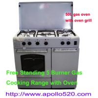 Wholesale Free Standing 5 Burner Gas Cooking Range with Oven from china suppliers