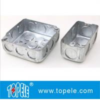 """Quality 4"""" 1-1/2'' Deep Steel Square / Rectangular Conduit Outlet Junction Box , Electrical Boxes And Covers for sale"""