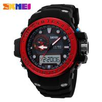 Wholesale Colored Analog Digital Wrist Watch Strong PU Strap 30 Meters Waterproof from china suppliers