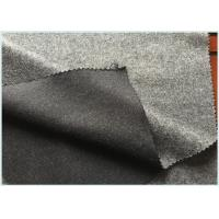 Quality Socks / Hats Per Meter Stretch Wool Fabric Customized Gray with 47 Wool 650 G for sale