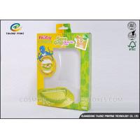 Buy Green / Yellow Foldable Gift Boxes Eco Friendly PVC Window For Children Bowl at wholesale prices