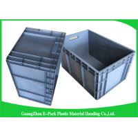 Quality 65 Litre Industrial  Euro Stacking Containers Heavy Duty Foldable Transport Space Saving for sale