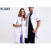 Quality Custom Medical Scrubs Uniforms , White Doctor Lab Coat For Man / Women for sale
