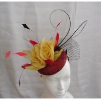 Wholesale Party Stylish Ladies Fascinator Hats With Shaped Quills ,Veils , Coque Feathers from china suppliers