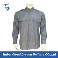 Light Blue Poplin Military Tactical Shirts 65% Poly 35% Cotton With7 Button Placket