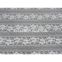 Quality Delicate Flower Striation Spacing Stretch Lace Fabric With Nylon Spandex Material For Dress SYD-0173 for sale