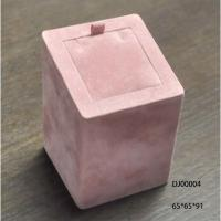 Pink Ring Holder Jewellery Display Box For Women Square Pink Fabric Painting